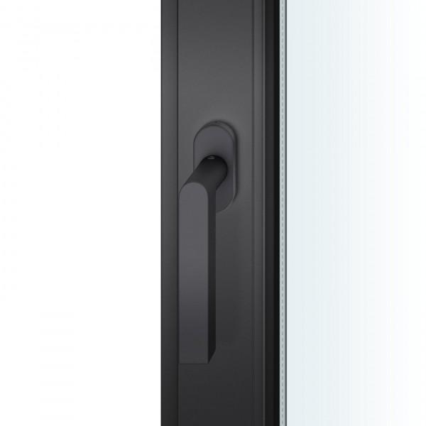 FSB 1001 Fenstergriff Aluminium schwarz gestrahlt 0810