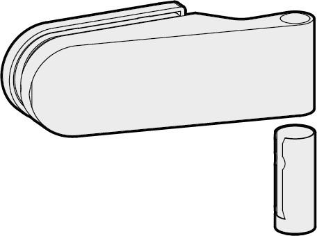 STUDIO OLIS Türband mit Hülse, 24 mm Falztiefe