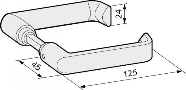 WSS Türdrücker in flachovaler Form für Glastürschlösser, 22.104.0000.112