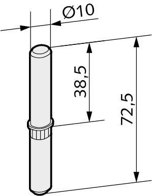 WSS STUDIO Bolzen zum Umrüsten von Rahmenteilen 20.912.0000.010